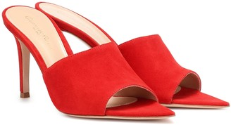 Gianvito Rossi Pointy 85 suede sandals