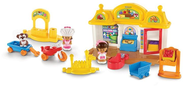 Fisher-Price Little people corner market & trike gift set