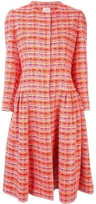 DELPOZO Tweed Styled Dress
