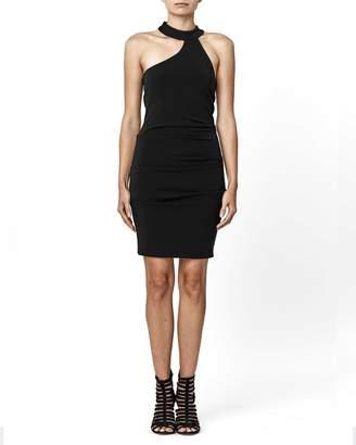 Nicole Miller Structured Heavy Jersey Mock Neck Dress