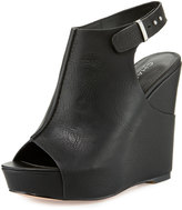 Charles by Charles David Ames Leather Wedge Sandal, Black