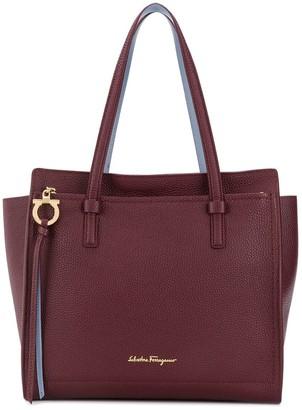 Salvatore Ferragamo Double Handle Leather Handbag