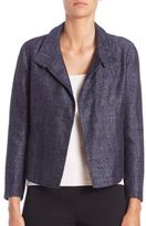 Akris Willy Silk & Linen Tweed Jacket