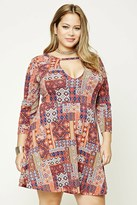 Forever 21 FOREVER 21+ Plus Size Patchwork Dress