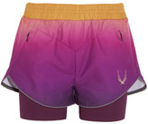 Lucas Hugh Rebel Ombré Shell And Stretch-jersey Shorts - Purple