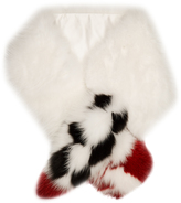 Fendi Blooming Garland fox-fur scarf