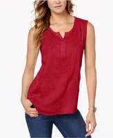 Style&Co. Style & Co Embroidered Tank Top, Created for Macy's