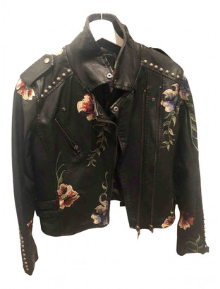Blank NYC Black Leather Leather Jacket for Women