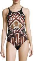 LaBlanca La Blanca Women's Tanzania Hi-Neck One Piece Swimsuit