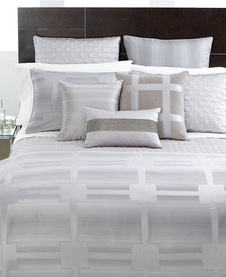 Hotel Collection Hotel Collection, Meridian Quartz King Duvet Cover
