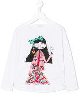 Little Marc Jacobs girl print T-shirt