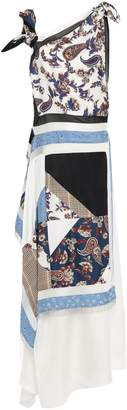 3.1 Phillip Lim Bead-embellished Layered Patchwork-effect Silk-twill Maxi Dress