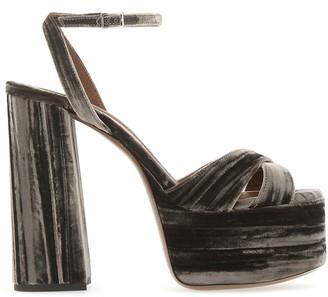 L'Autre Chose Block-Heel Platform Sandals