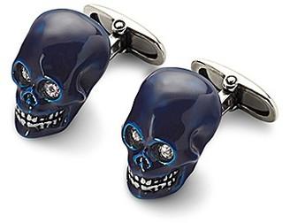 Aspinal of London Sterling Silver Skull Cufflinks