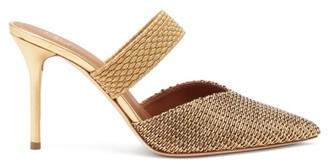 Malone Souliers Maisie Woven-lurex Mules - Gold