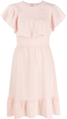RED Valentino Ruffle Trim Dress