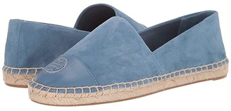 Tory Burch Color Block Flat Espadrille (Blue Yonder/Blue Yonder) Women's Shoes