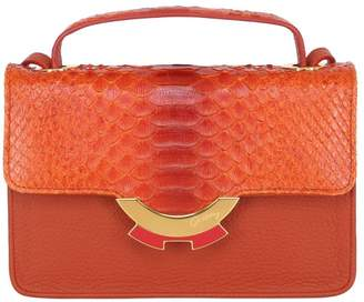 Patricia Al'kary Small Leather Bag With Python Details