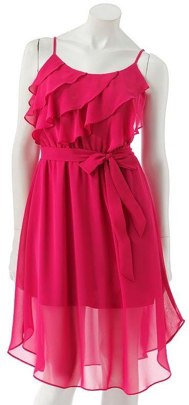 Lauren Conrad ruffle chiffon dress