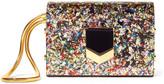 Jimmy Choo Lockett Glittered Acrylic Clutch - Metallic