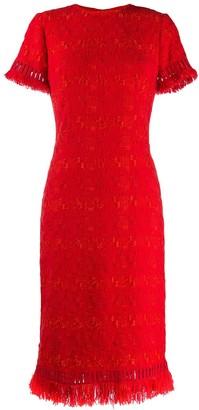 Ermanno Scervino fringed embroidered dress