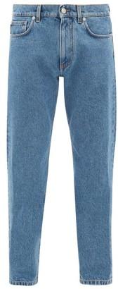 Versace Logo-embroidered Denim Jeans - Mens - Blue