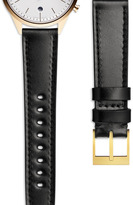 Uniform Wares Women's shell cordovan watch strap in black with polished steel buckle