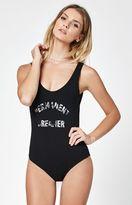La Hearts Graphic Low Back Bodysuit