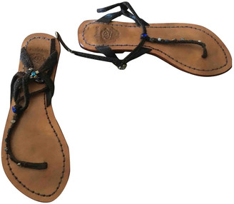 Maliparmi Brown Leather Sandals