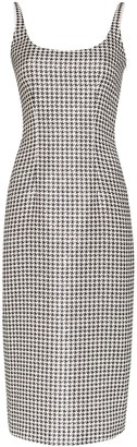 Alessandra Rich Houndstooth Midi Dress