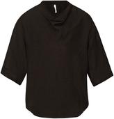 Damir Doma Sapa scarf-collar linen-blend top