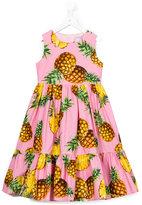Dolce & Gabbana pineapple print dress - kids - Cotton/Viscose - 2 yrs