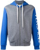 Versace Gym logo two tone hoodie - men - Cotton - 3