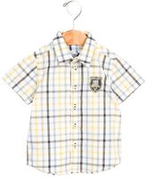 Tartine et Chocolat Boys' Gingham Button-Up Shirt w/ Tags
