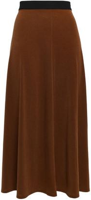 By Malene Birger Ruffled Crepe Midi Skirt