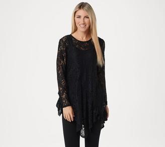 Women With Control Attitudes by Renee Ruffle Lace Tunic and Tank