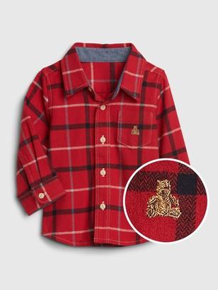 Gap Baby Brannan Bear Plaid Shirt