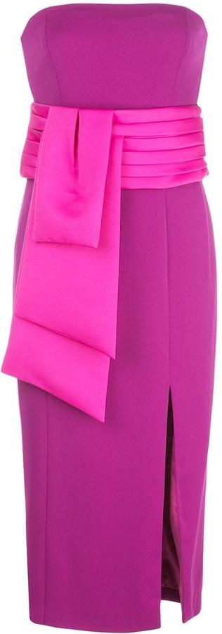 Jay Godfrey Kia strapless midi dress