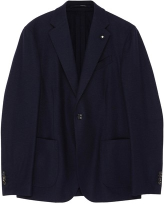 Lardini Notch lapel recycled cashmere casual blazer