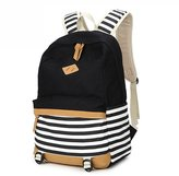 Hengtong SD Canvas Lightweight Student Shoulder Backpacks Bags for Women Girls School Bags Vintage Backpack