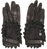 Chanel Ruffled Leather Gloves