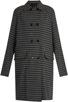 MSGM Prince of Wales-check raw-edged coat