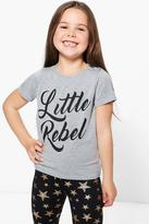 Boohoo Girls Little Rebel Tee