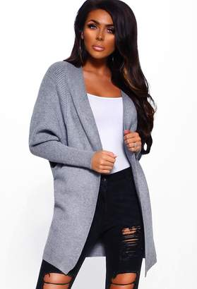 Pink Boutique Apres Chic Grey Chunky Soft Knitted Cardigan