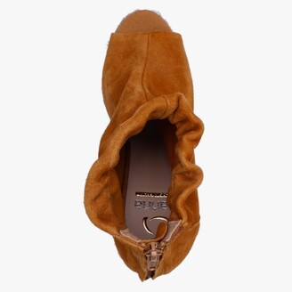 Kanna Pickerel Tan Suede Espadrille Wedge Ankle Boots