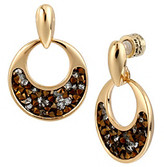 Kenneth Cole Bronze Faceted Bead Open Circle Drop Earrings