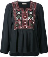 Masscob geometric embroidery blouse