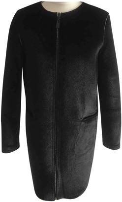 Eleven Paris Black Cotton Coat for Women