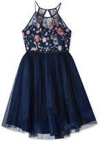 Rare Editions Embroidered High-Low Hem Dress, Big Girls Plus