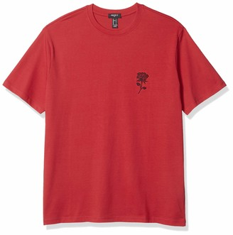 Forever 21 Men's Embroidered Rose Graphic Tee